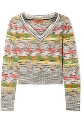 Missoni Cropped Wool Blend Sweater Gray