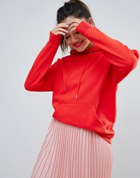 New Look Oversized Hoody In Bright Red Bright Red