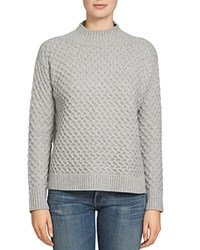 1.State Drop Shoulder Honeycomb Sweater Light Heather Gray