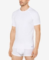Michael Kors Men's Stretch Factor Crew Neck Undershirts 2 Pack White
