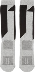11 By Boris Bidjan Saberi Grey Logo Socks