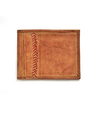 Rawlings Sports Accessories Baseball Stitch Leather Bi Fold Wallet