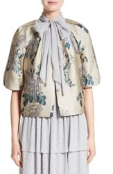 St. John Women's Collection Laksha Floral Jacquard Cocoon Jacket