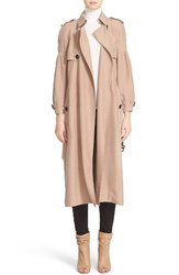 Burberry Women's Maythorne Mulberry Silk Trench Nude