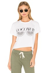 The Laundry Room Coconuts Crop Tee White