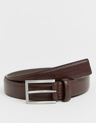 French Connection Silver Buckle Belt Brown