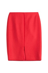 Carven Wool Blend Skirt Red