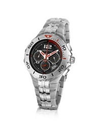 Zoppini Stainless Steel Bracelet Chrono Watch Silver