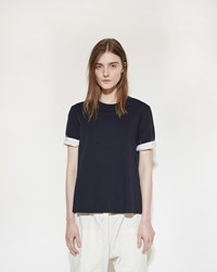 Marni Open Back T Shirt Blublack
