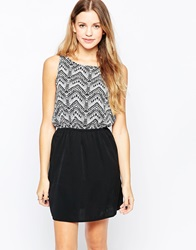 Jdy Sleeveless Skater Dress With Contrast Skirt Clouddancerwethn