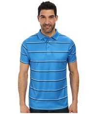 Cinch Athletic Technical Polo Striped Blue Men's Short Sleeve Pullover
