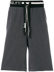 Dolce And Gabbana Branded Casual Shorts Grey