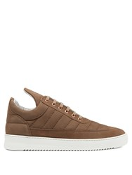 Filling Pieces Padded Low Top Suede Trainers Brown