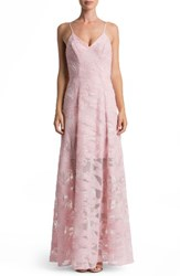 Dress The Population Women's 'Florence' Woven Fit And Flare Gown Dusty Pink