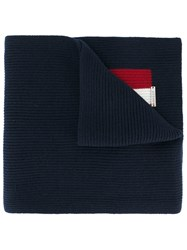Bally Knitted Scarf Women Wool One Size Blue