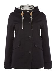 Joules Coast Waterproof Hooded Jacket Black