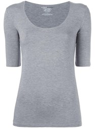 Majestic Filatures Fitted T Shirt Grey