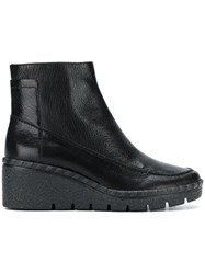 Geox Wedge Ankle Boots Black