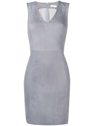Drome Short Fitted Dress Grey