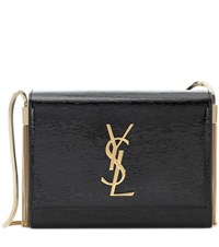 Saint Laurent Kate Boxy Leather Shoulder Bag Black