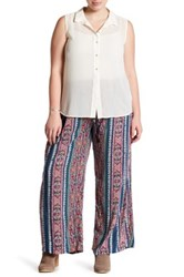 Angie Printed Soft Pant Plus Size Blue