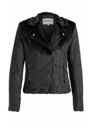 Faux Fur Biker Jacket Clothing