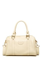 Erica Anenberg Loreto Genuine Leather Satchel White
