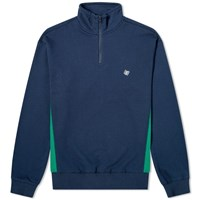 Bronze 56K Quarter Zip Mock Neck Sweat Blue