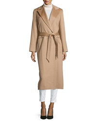 Sofia Cashmere Long Wrap Camel Hair Coat
