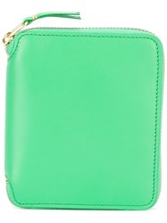 Comme Des Garcons Wallet Zip Purse Women Calf Leather One Size Green