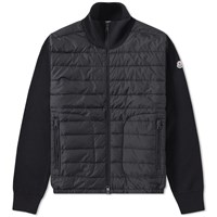 Moncler Down Front Track Jacket Black