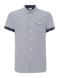 Linea Limited Short Sleeve Shirt With Print Detail Navy
