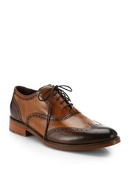 Cole Haan Preston Two Tone Wingtip Oxfords Brown Multi