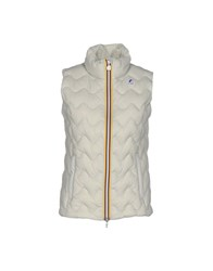 K Way Down Jackets Light Grey