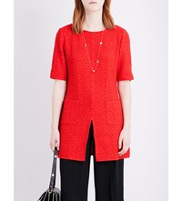 St John Bateau Neck Knitted Top African Red