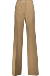 Derek Lam Georgia Wool Blend Twill Wide Leg Pants Camel