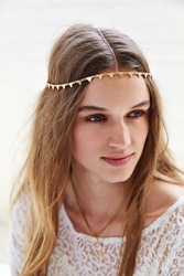 Urban Outfitters Triangle Goddess Chain Headwrap Gold