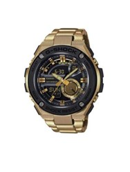 G Shock Steel Ana Digi Goldtone Stainless Steel Watch