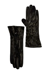 Vince Camuto Studded Cuff Leather Glove Black