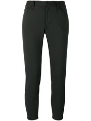 Comme Des Garcons Junya Watanabe Slim Fit Cropped Trousers Black