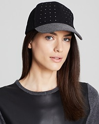August Accessories Studded Baseball Hat Black Grey