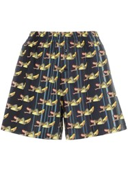 Adam Selman Banana Graphic Shorts Black