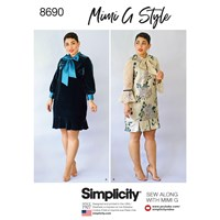 Simplicity Mimi G Style 'S Dress Sewing Pattern 8690