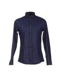 Dirk Bikkembergs Shirts Shirts Men Dark Blue