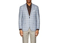 Sartorio Pg Plaid Wool Blend Two Button Sportcoat Blue