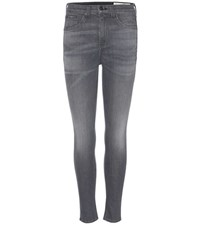 Rag And Bone 10 Inch Capri Denim Jeans Grey
