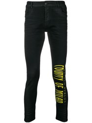 Marcelo Burlon County Of Milan Logo Skinny Fit Jeans Black