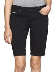 Ck Calvin Klein Five Pocket Denim Bermuda Shorts Black