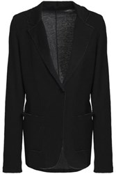 Majestic Filatures Frayed Cotton And Cashmere Blend Blazer Black