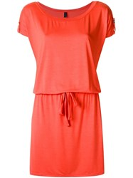Lygia And Nanny Boat Neck Dress Red
